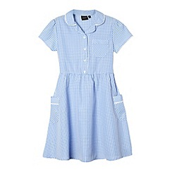 Debenhams - Girl's blue gingham school dress