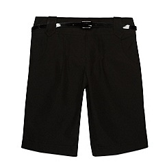 Debenhams - Girl's black belted school shorts