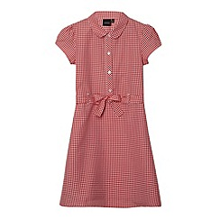 Debenhams - Girl's red gingham tie school dress