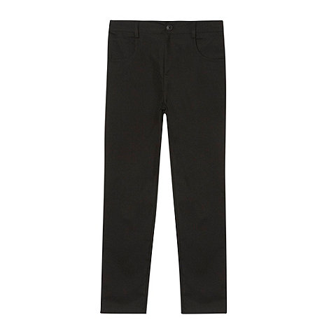 Debenhams - Boy+s black slim school trousers