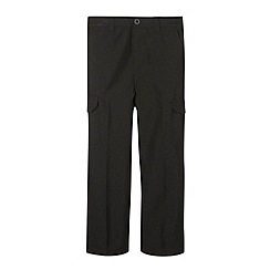 Debenhams - Boy's black cargo school trousers