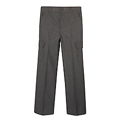 Debenhams - Boy's grey cargo school trousers