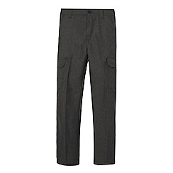 Debenhams - Boy's grey school cargo trousers