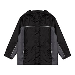Debenhams - Boy's black packable mac school jacket