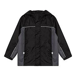 Debenhams - Boy's black packable mac school jacket