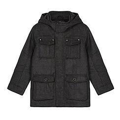 Debenhams - Boy's grey four pocket school jacket