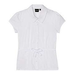 Debenhams - Girl's white belted school blouse