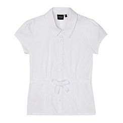 Debenhams - Girl's white belted school blouse