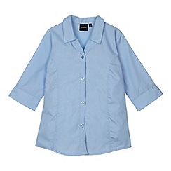 Debenhams - Girl's blue school blouse