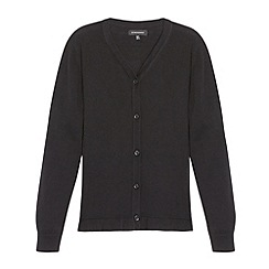 Debenhams - Girl's black peplum school cardigan