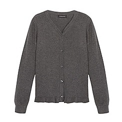 Debenhams - Girl's grey peplum school cardigan