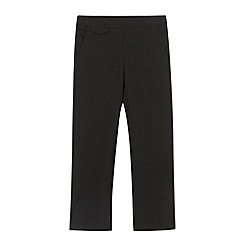 Debenhams - Girl's black slim pull on school trousers