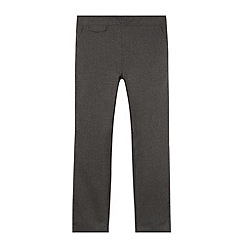 Debenhams - Girl's grey pull on school trousers