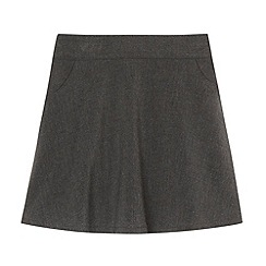 Debenhams - Girl's grey A-line skirt