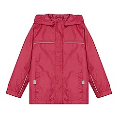 Debenhams - Girl's pink packable mac school jacket