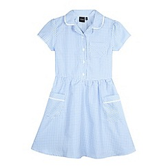 Debenhams - Girl's light blue gingham school dress