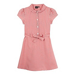 Debenhams - Girl's red gingham school dress
