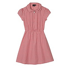 Debenhams - Pack of two girl's red gingham school dresses