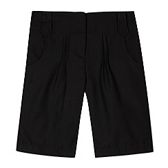 Debenhams - Girl's black school uniform shorts