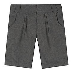 Debenhams - Girl's grey pleated school shorts