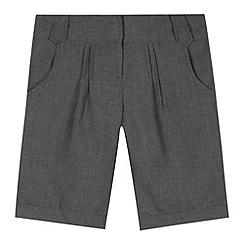 Debenhams - Girl's grey pleated school shorts