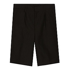 Debenhams - Pack of two boy's black classic school shorts
