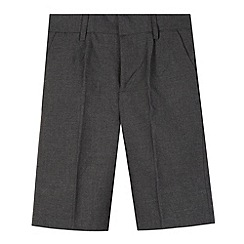 Debenhams - Pack of two boy's grey classic school shorts