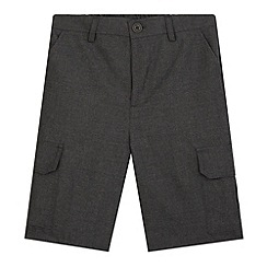 Debenhams - Boy's grey school cargo shorts