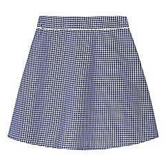 Debenhams - Pack of two girl's navy gingham school skirts