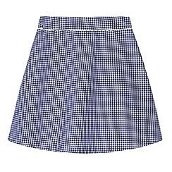 Debenhams - Pack of two girl's navy gingham school skirts