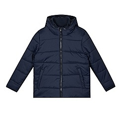Debenhams - Boy's navy padded school coat