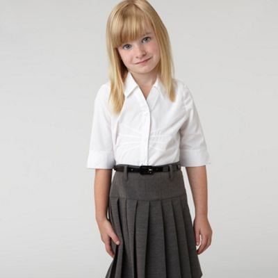 Girls White School Blouse
