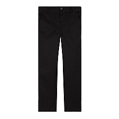 Debenhams - Boy's black slim leg school trousers