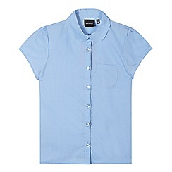Debenhams - Pack of two girl's blue fitted school blouses