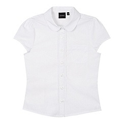 Debenhams - Girl's white placket school blouse