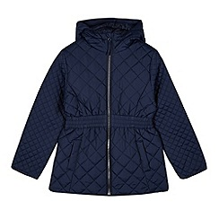 Debenhams - Children's navy quilted school coat