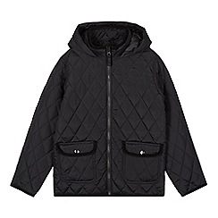 Debenhams - Children's black quilted school coat