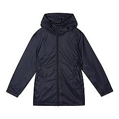 Debenhams - Girl's navy lightweight mac jacket