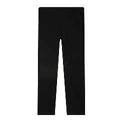 Debenhams - Girl's black slim fit school trousers