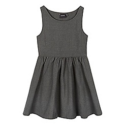 Debenhams - Girls' grey skater school pinafore