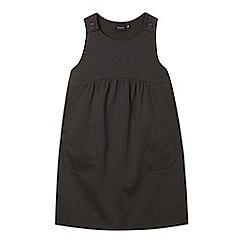 Debenhams - Girl's grey pocket pinafore