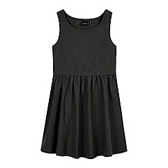 Debenhams - Girl's grey skater pinafore school dress