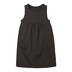Debenhams - Girl's dark grey ponte pinafore school dress