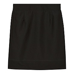 Debenhams - Girl's black tulip pencil school skirt
