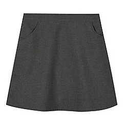 Debenhams - Girl's grey A-line school skirt