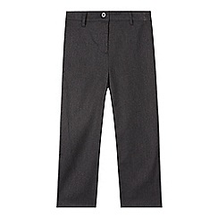 Debenhams - Girl's grey straight leg school trousers