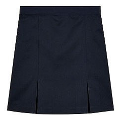 Debenhams - Girl's navy pleated school skirt