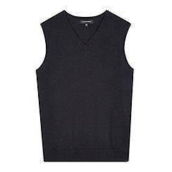 Debenhams - Children's navy V neck school tank top