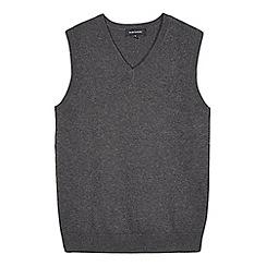 Debenhams - Children's grey V neck school tank top