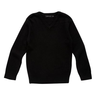 Boys Black Wool Mix School Jumper